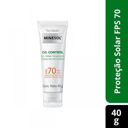 Protetor Solar Gel Creme Facial NeoStrata Minesol Oil Control Toque Seco FPS70