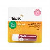 Protetor Solar Labial Hidratante Needs com Cor Sabor Amora FPS20
