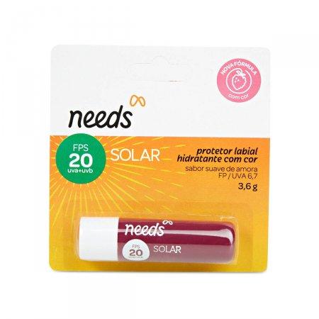 Protetor Solar Labial Hidratante Needs com Cor Sabor Amora FPS20 3,6g | Drogasil.com