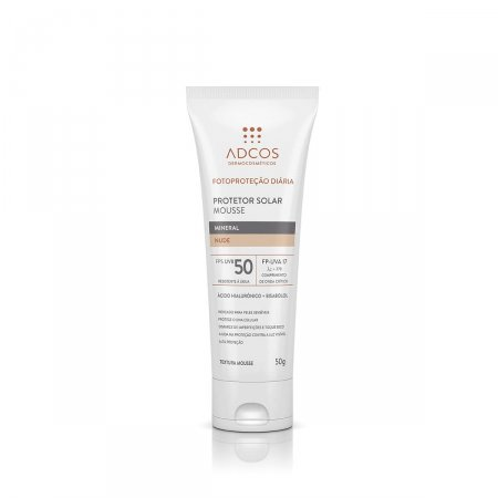 ADCOS PROTETOR SOLAR MOUSSE MINERAL FPS50 TONALIZANTE NUDE 50G