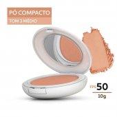 Protetor Solar Pó Compacto Pele Morena Episol Color FPS 50 com 10g