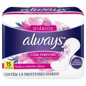 ALWAYS ABSORVENTE PROTETOR DIARIO REGULAR COM 15 UNIDADES