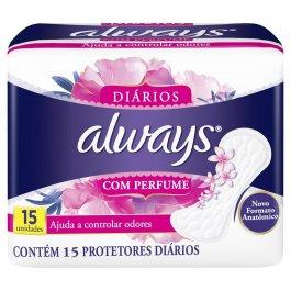 ALWAYS PROTETOR DIARIO COM PERFUME COM 15 UNIDADES