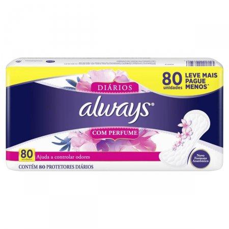Protetor Diário Always com Perfume 80 Unidades Leve Mais Pague Menos |