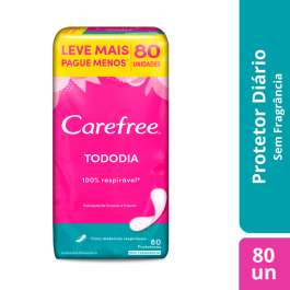 CAREFREE ABSORVENTE TODODIA LEVE 80 PAGUE 60