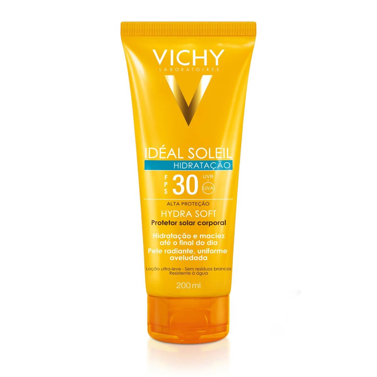 Protetor Solar Corporal Vichy Idéal Soleil Hydra Soft FPS30 200ml