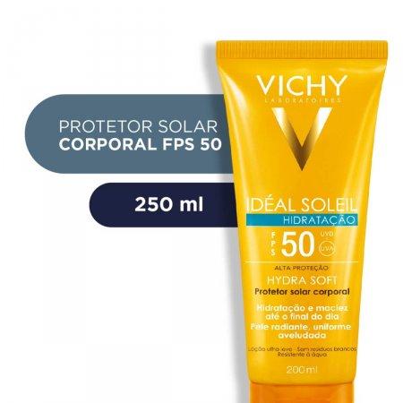 Protetor Solar Corporal Vichy Idéal Soleil Hydra Soft FPS50