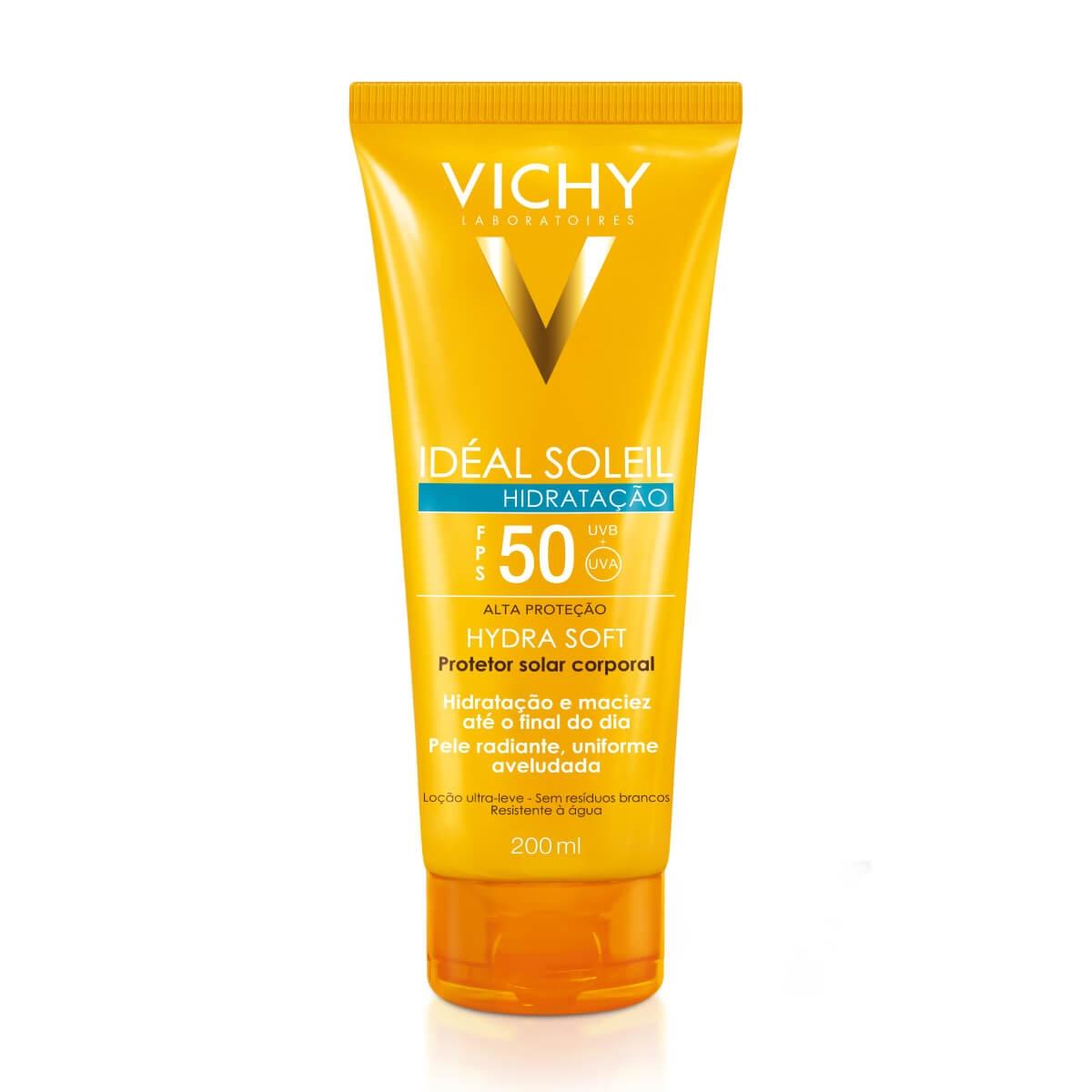 Protetor Solar Corporal Vichy Idéal Soleil Hydra Soft FPS 50 com 200ml 200ml