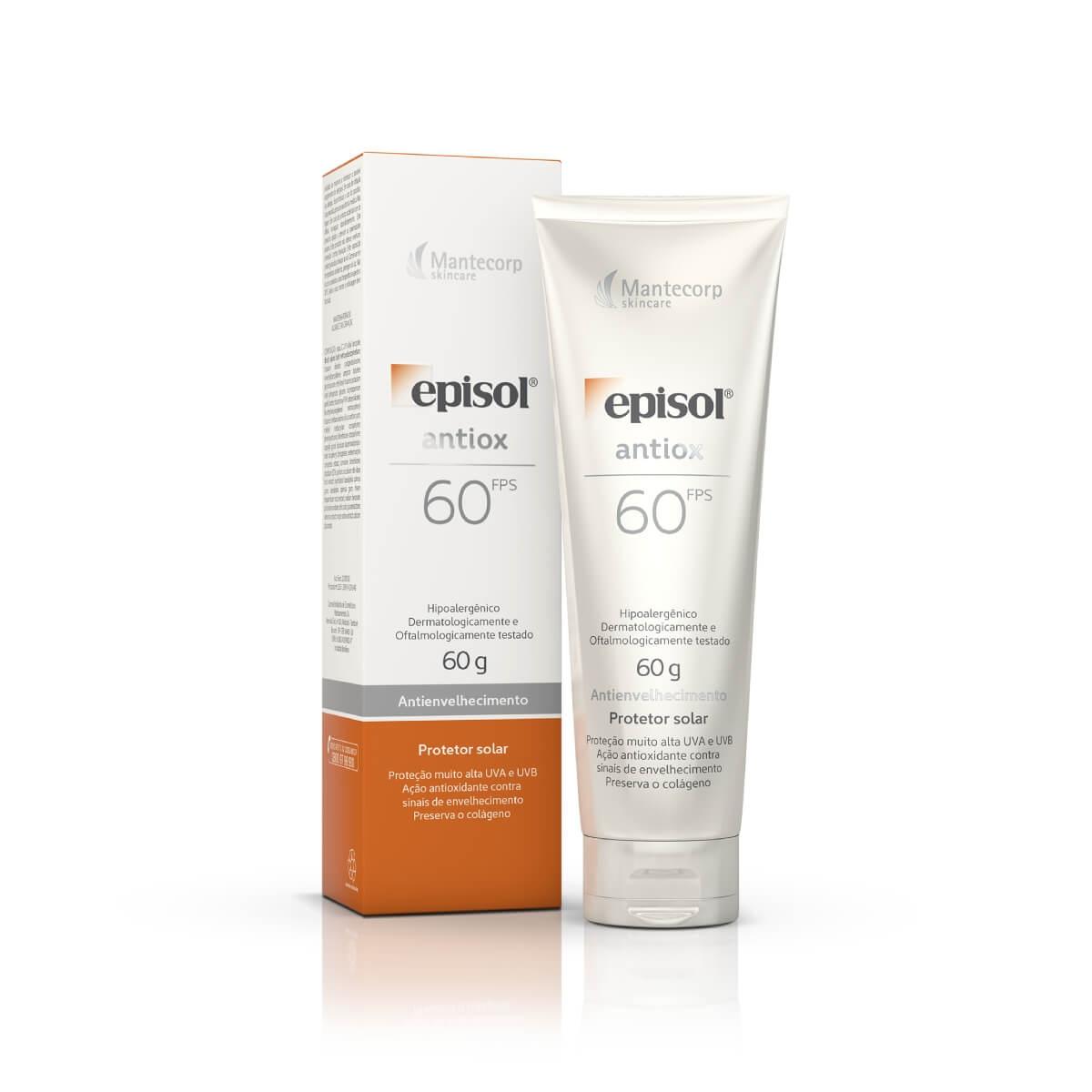 Protetor Solar Facial Episol Antiox Antienvelhecimento FPS 60 com 60g 60g
