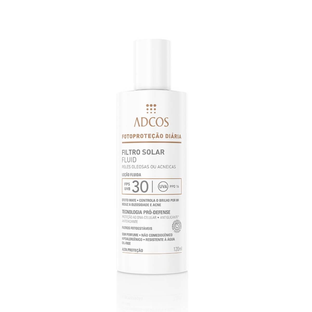 Protetor Solar Facial Adcos Fotoproteção Oil-Free Efeito Matte FPS 30 com 120ml 120ml