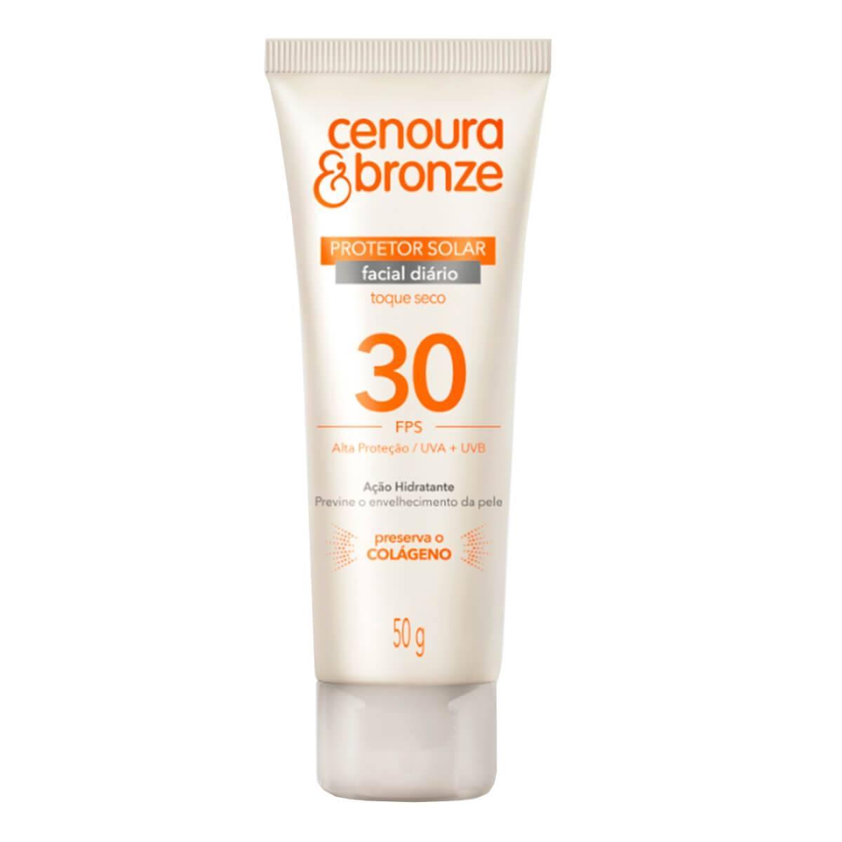 Protetor Solar Facial Cenoura e Bronze FPS30 50g 50g