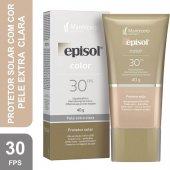 Protetor Solar Facial Episol Color Pele Extra Clara FPS30
