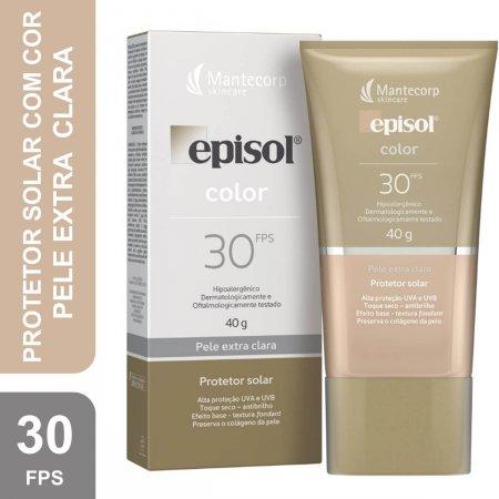 EPISOL COLOR PROTETOR SOLAR COR EXTRA CLARA FPS 30 40G