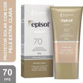 Protetor Solar Facial Episol Color Pele Extra Clara FPS70