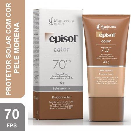 Protetor Solar Facial Episol Color Pele Morena FPS70