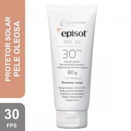 Protetor Solar Facial Episol Sec OC FPS30