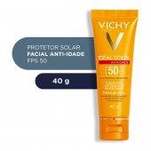 Protetor Solar Facial Idéal Soleil Anti-idade Toque Seco FPS50