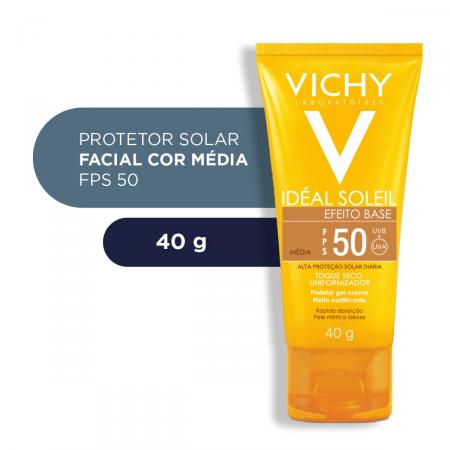 VICHY IDEAL SOLEIL EFEITO BASE FPS50 COR MEDIA 40G