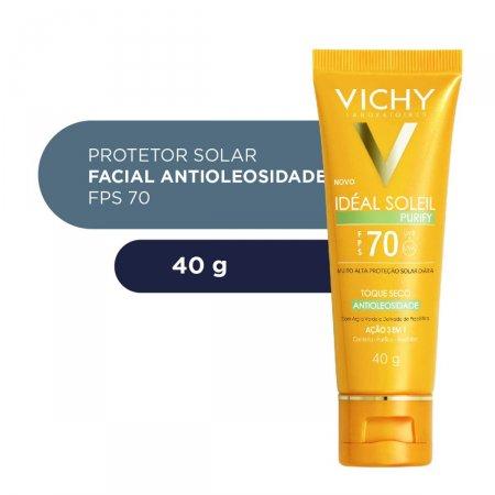 Protetor Solar Facial Idéal Soleil Purify FPS70