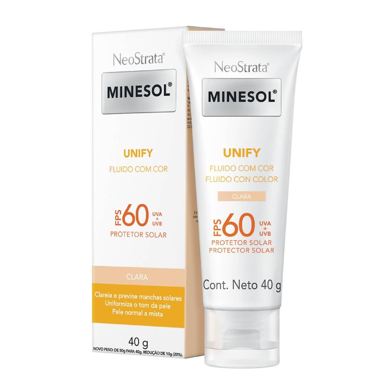 Protetor Solar Facial NeoStrata Minesol Unify Fluido Cor Clara FPS 60 com 40g 40g