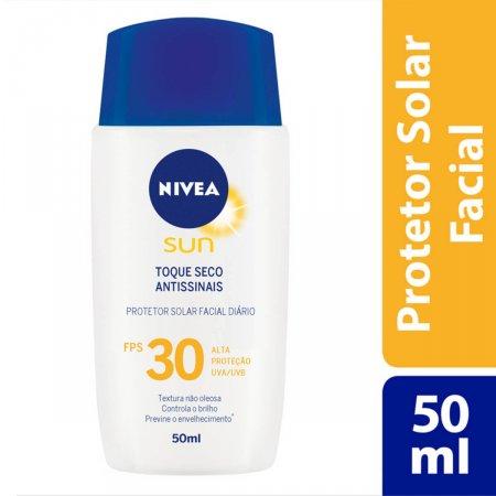Protetor Solar Facial Nivea Sun Toque Seco Antissinais FPS30