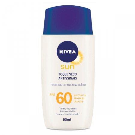 Protetor Solar Facial Toque Seco Antissinais FPS 60