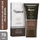 Protetor Solar Facial Episol Color Pele Negra FPS70