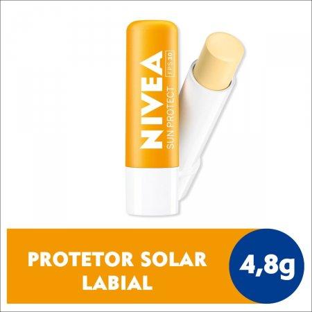 Protetor Solar Labial Nivea Sun Protect FPS30 4,8g | Drogasil.com Foto 2