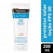 NEUTROGENA LOCAO PROTETOR SOLAR SUN FRESH FPS 30 200ML