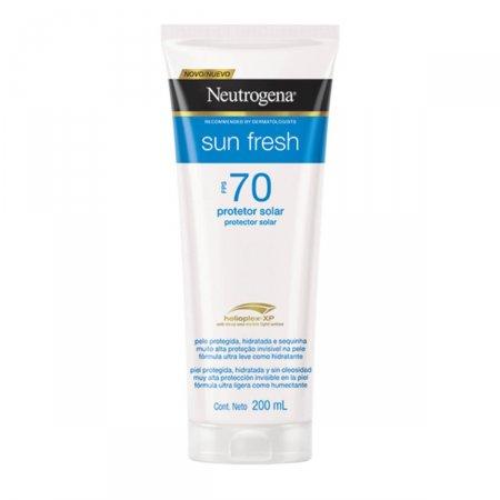 Protetor Solar Neutrogena Sun Fresh FPS70 200 ml | Drogasil.com Foto 1