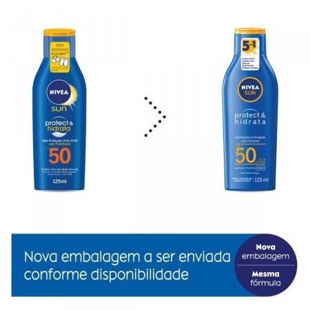 NIVEA SUN PROTECAO E HIDRATACAO FPS50 125ML
