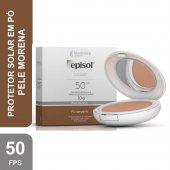 Protetor Solar Pó Compacto Episol Color Pele Morena FPS50