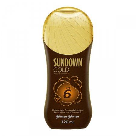 SUNDOWN GOLD PROTETOR SOLAR LOCAO FPS 6 120ML