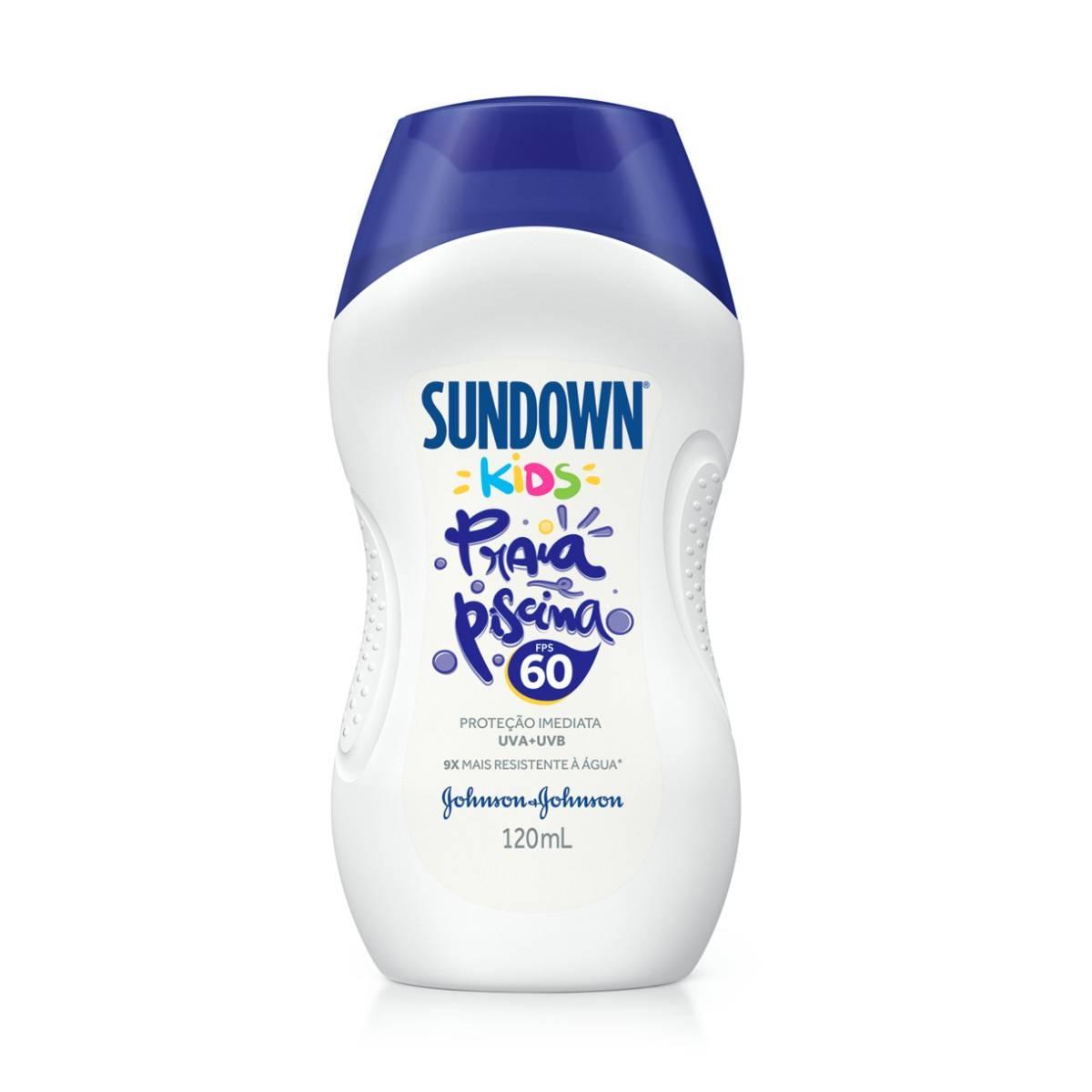 Protetor Solar Corporal Infantil Sundown Kids Praia e Piscina FPS 60 com 120ml 120ml