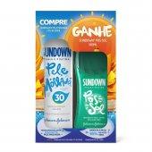 Protetor Solar Sundown Pele Molhada Spray FPS30 + Gel Sundown Pós Sol