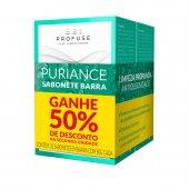 PROFUSE KIT PURIANCE COM 2 SABONETES BARRA 80G COM 50% DE DESCONTO NA SEGUNDA UNIDADE
