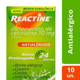 REACTINE 10MG COM 10 CAPSULAS