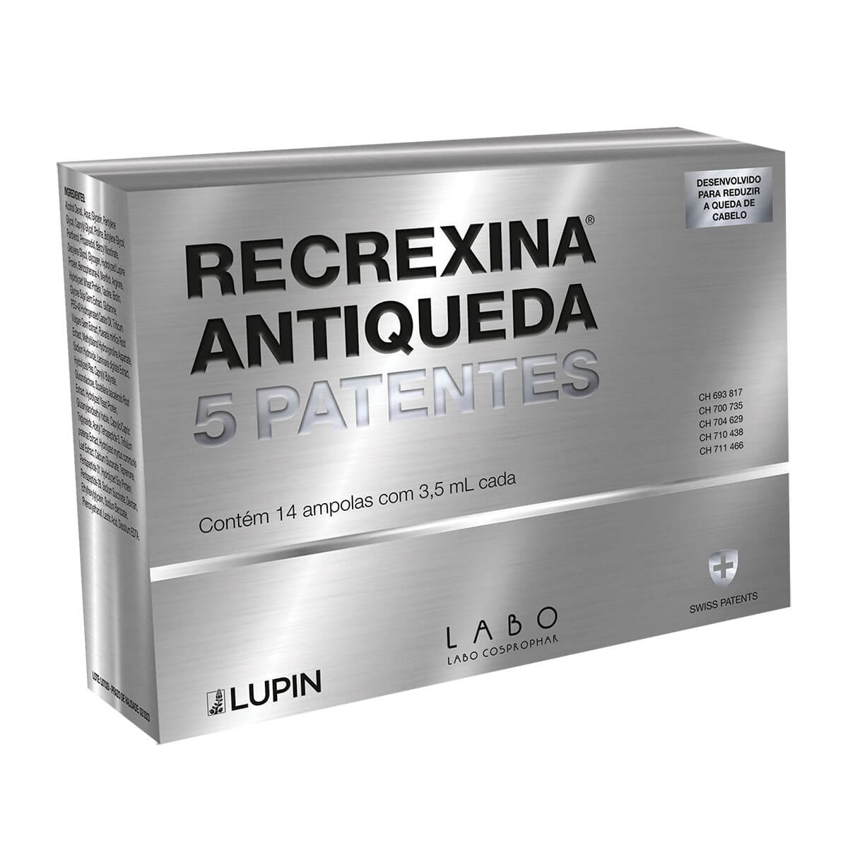 Recrexina Antiqueda 5 Patentes Lupin 14 Ampolas