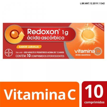 REDOXON VITAMINA 1 G LARANJA 10 COMPRIMIDOS EFERVESCENTES