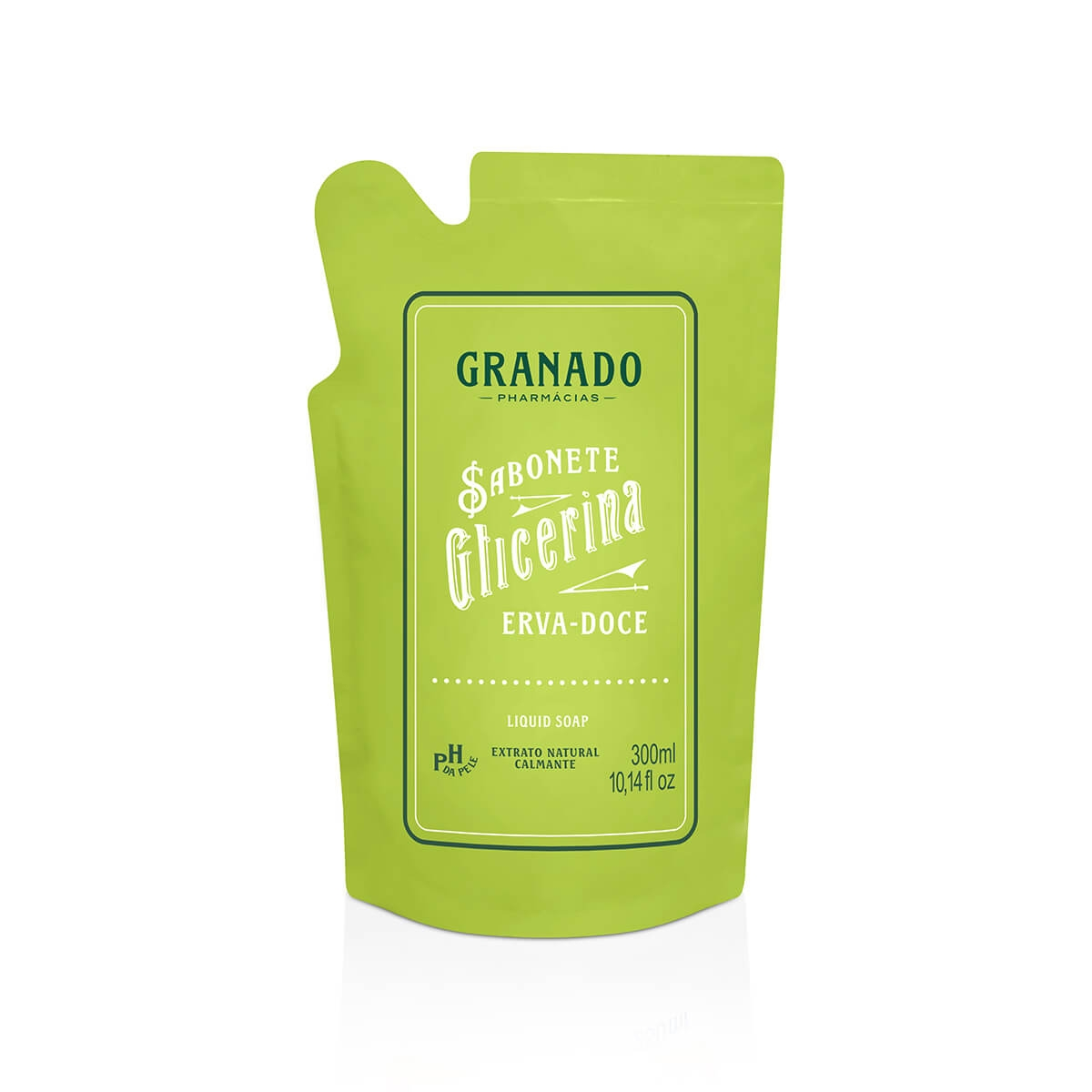 Refil Sabonete Líquido Glicerina Granado Erva Doce 300ml
