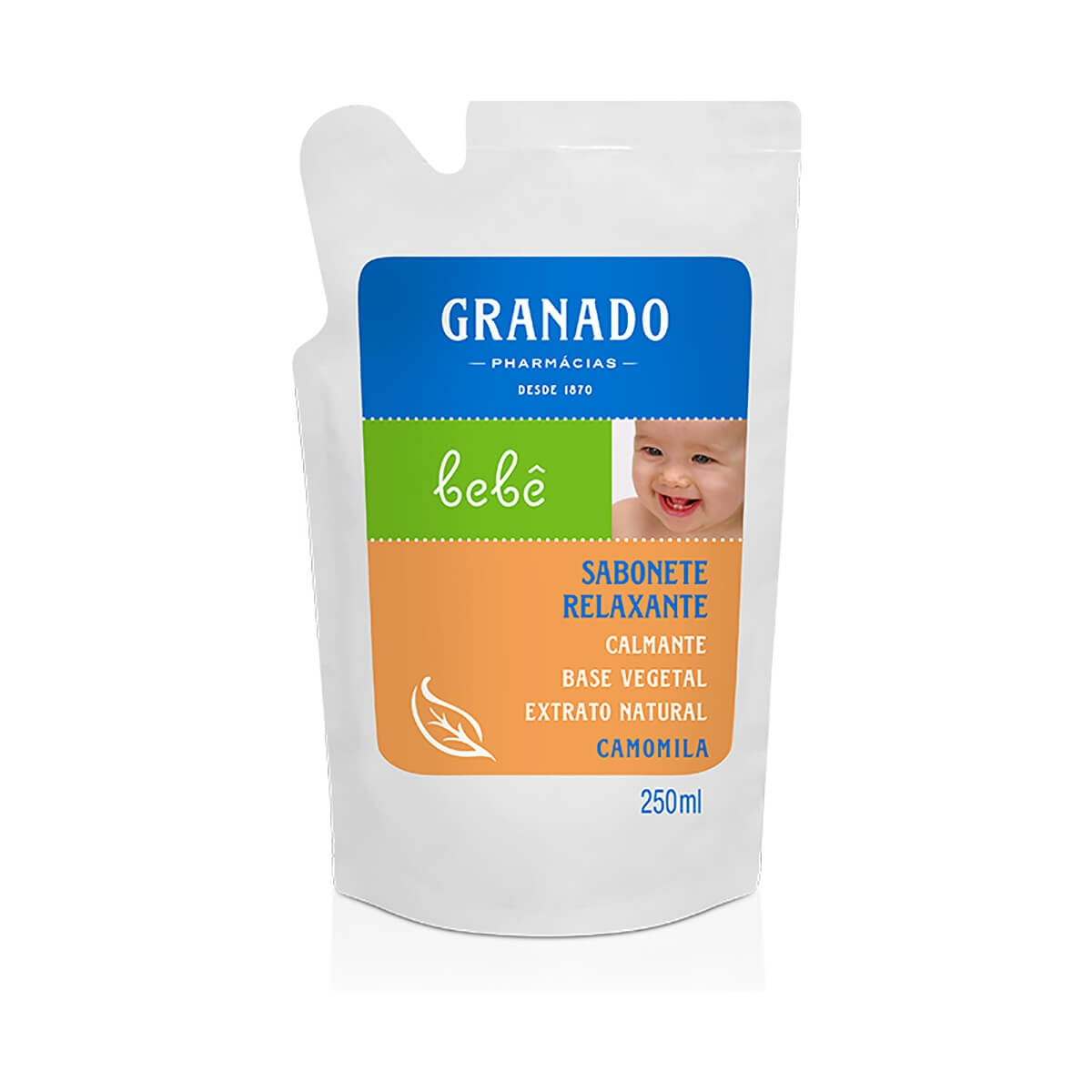 Refil Sabonete Líquido Granado Bebê Camomila 250ml