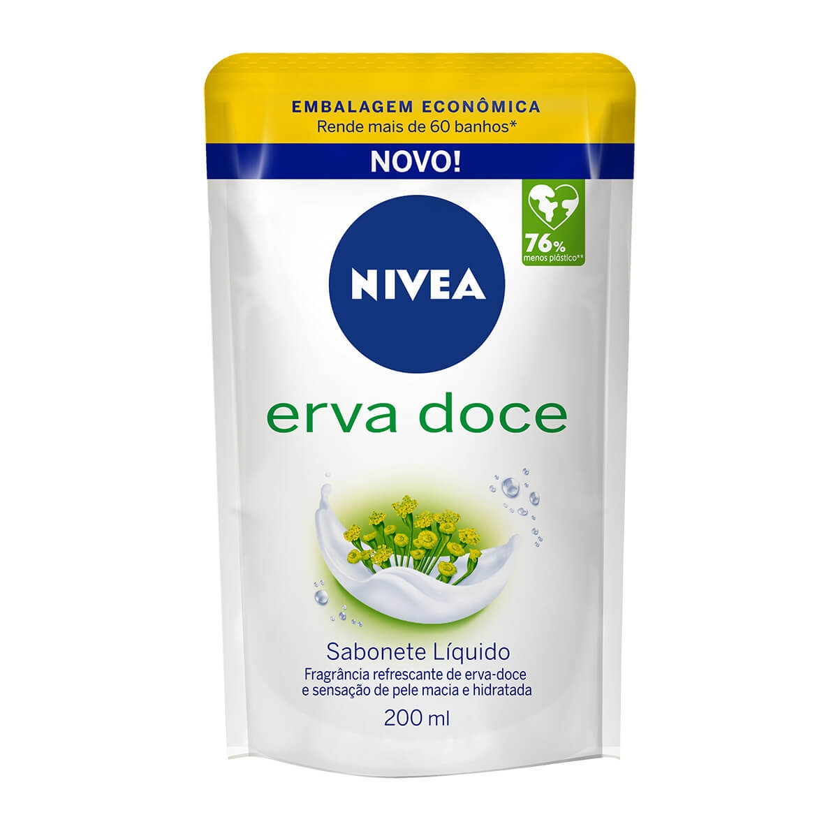 Refil Sabonete Líquido Nivea Erva Doce 200ml