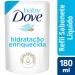 Sabonete Líquido Hidratação Enriquecida Baby Dove Refil 180mL | Drogasil.com Foto 1