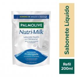Refil Sabonete Líquido Palmolive Nutri-Milk Hidratante 200ml