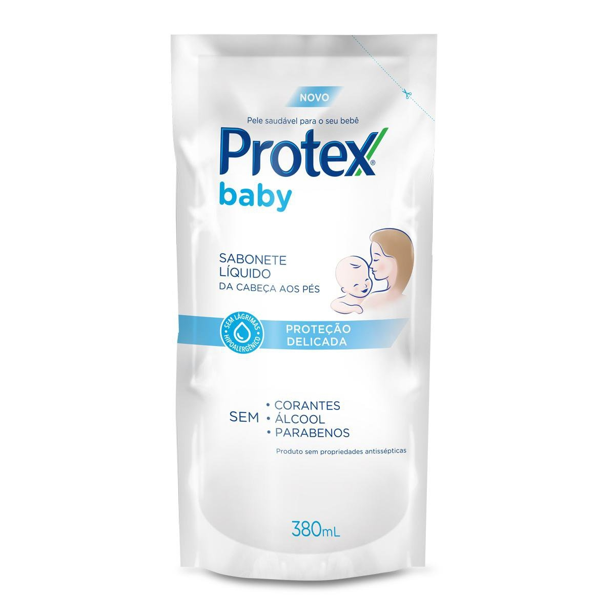 Refil Sabonete Líquido Protex Baby Cabeça aos Pés 380ml