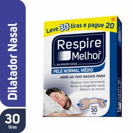 Dilatador Nasal Respire Melhor Pele Normal com 30 unidades