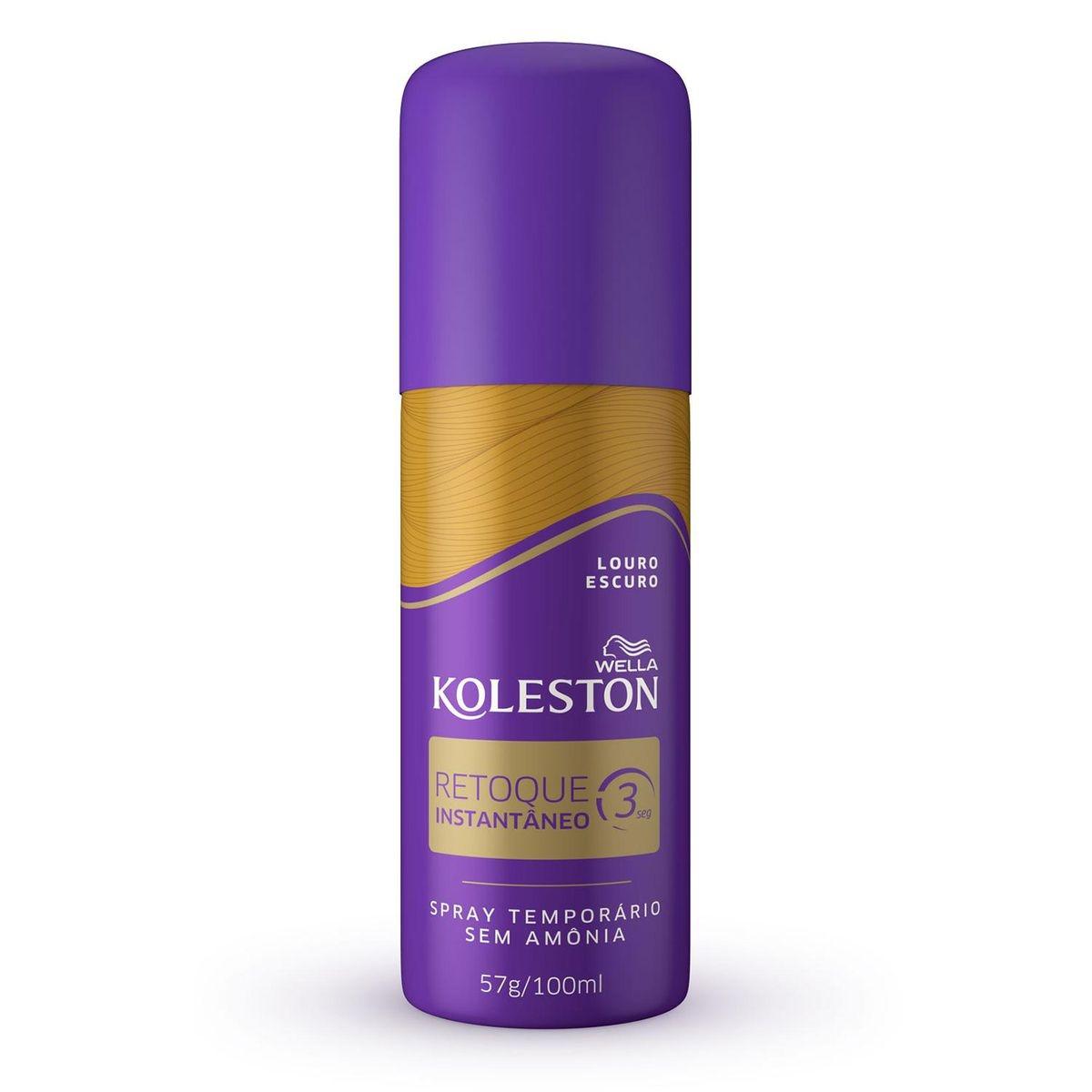 Retoque Instantâneo Koleston Louro Escuro 100ml Spray