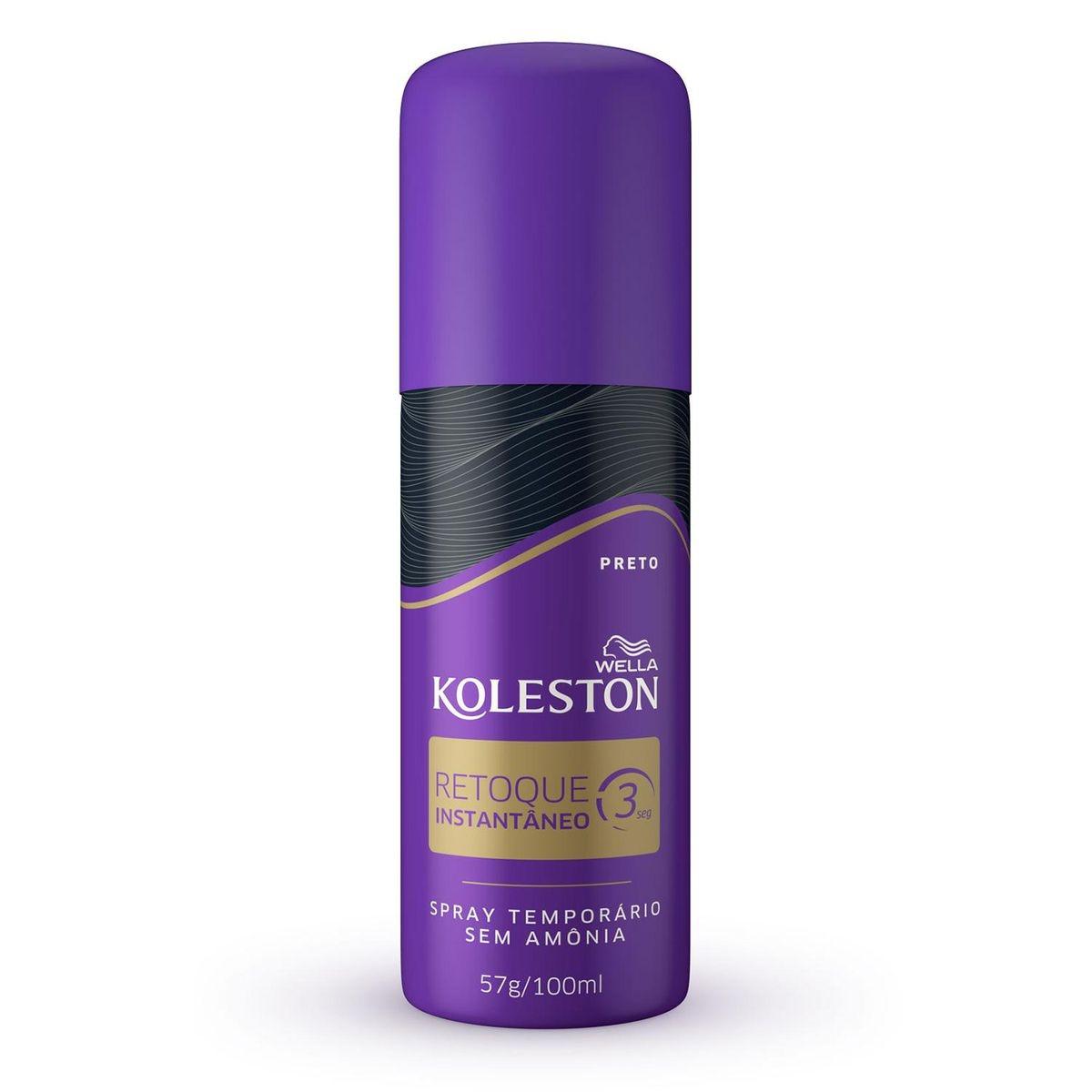 Retoque Instantâneo Koleston Preto 100ml Spray