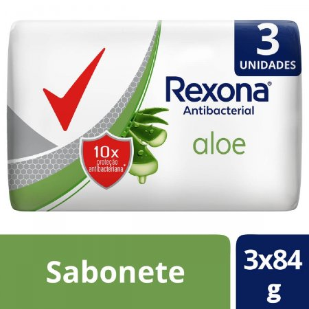Kit Sabonete Rexona Antibacterial Aloe
