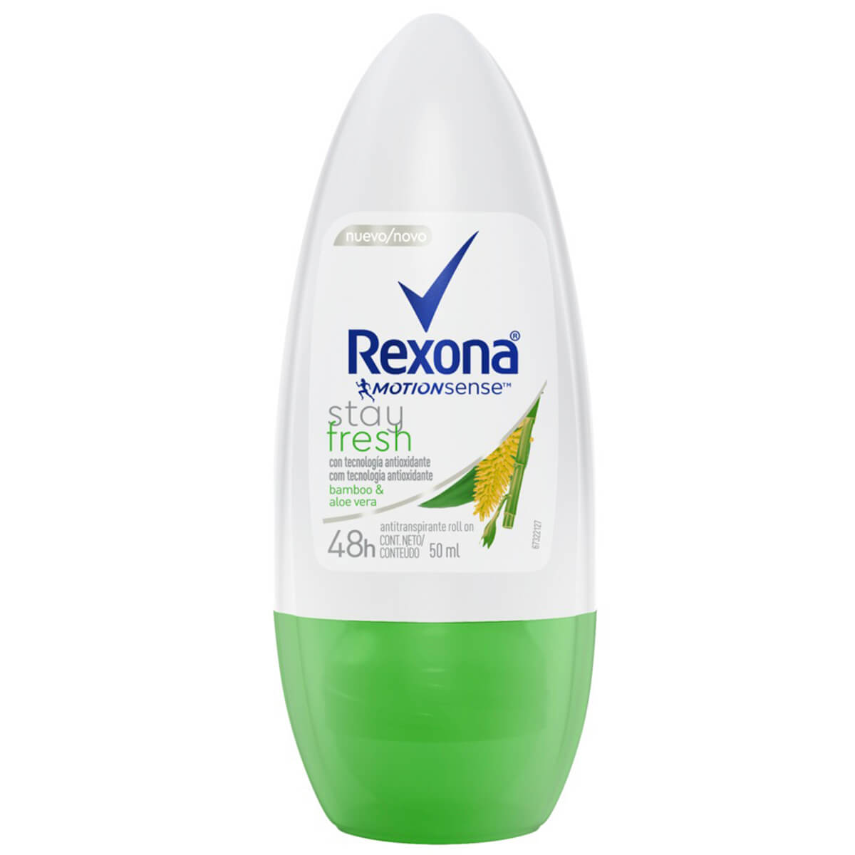 Desodorante Antitranspirante Roll-On Rexona Bamboo e Aloe Vera 50ml